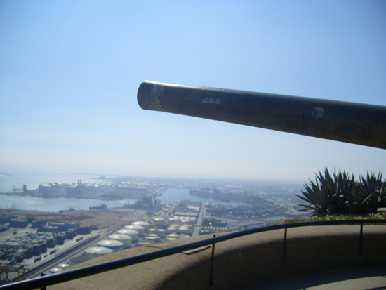 one of the canons at Montjuïc Castle