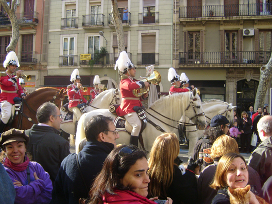 Parade of horses at Els Tres Tombs.