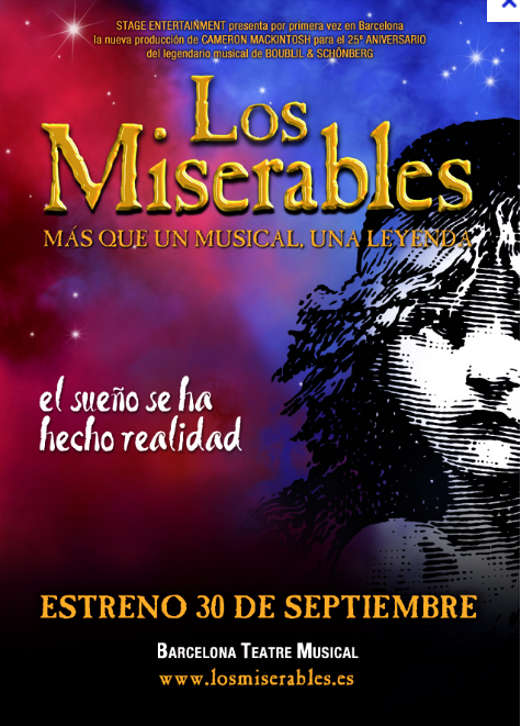 Los Miserables poster in Barcelona