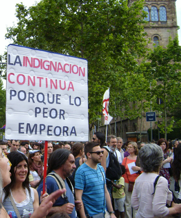 My first Barcelona protest march – hanging out with the indignados