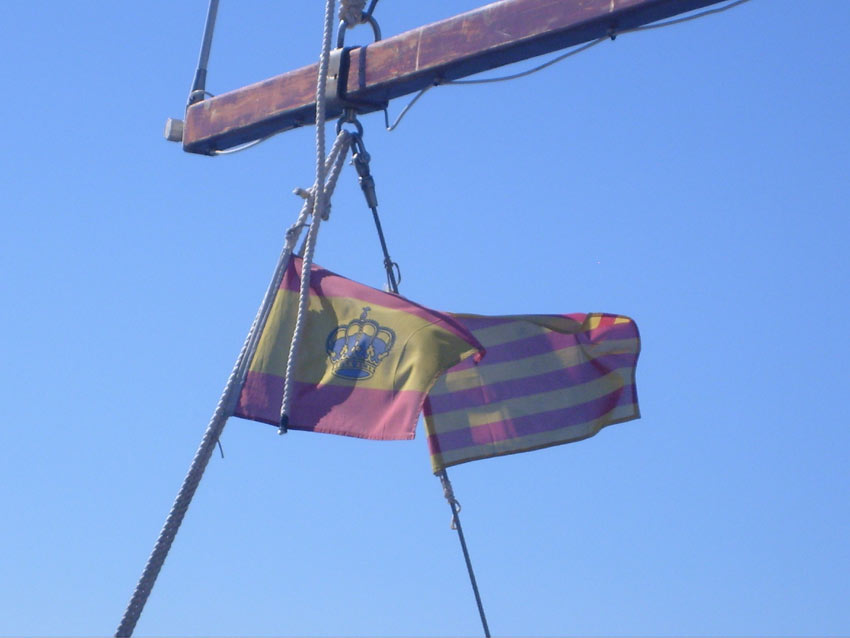 The Spanish flag - la Rojigualda - and the Catalan Senyera