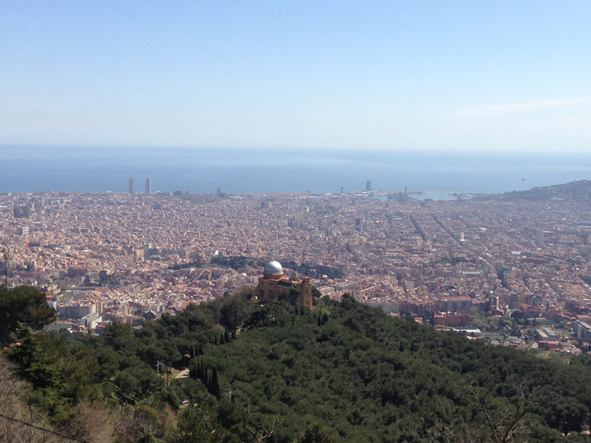 View from Barcelona observatory