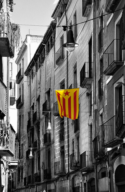 Catalan flag Girona by Keith Ellwood