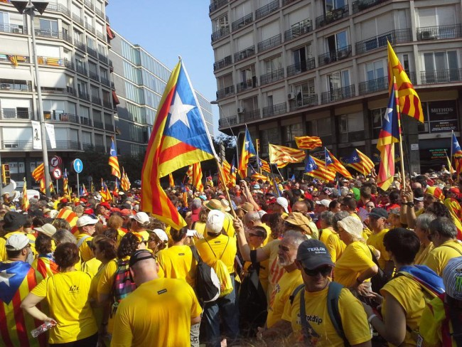 La Diada protest march - Spanish politics